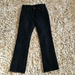Harley Davidson Black Boot Cut Dark Wash Jeans